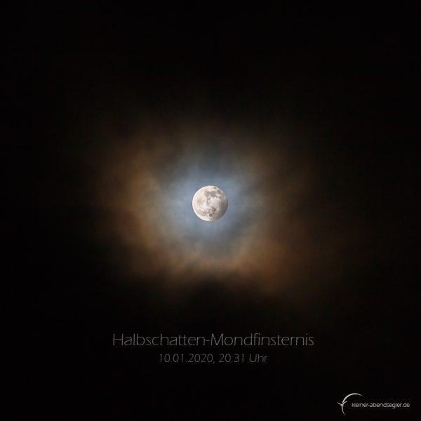Halbschatten-Mondfinsternis 10. januar 2020