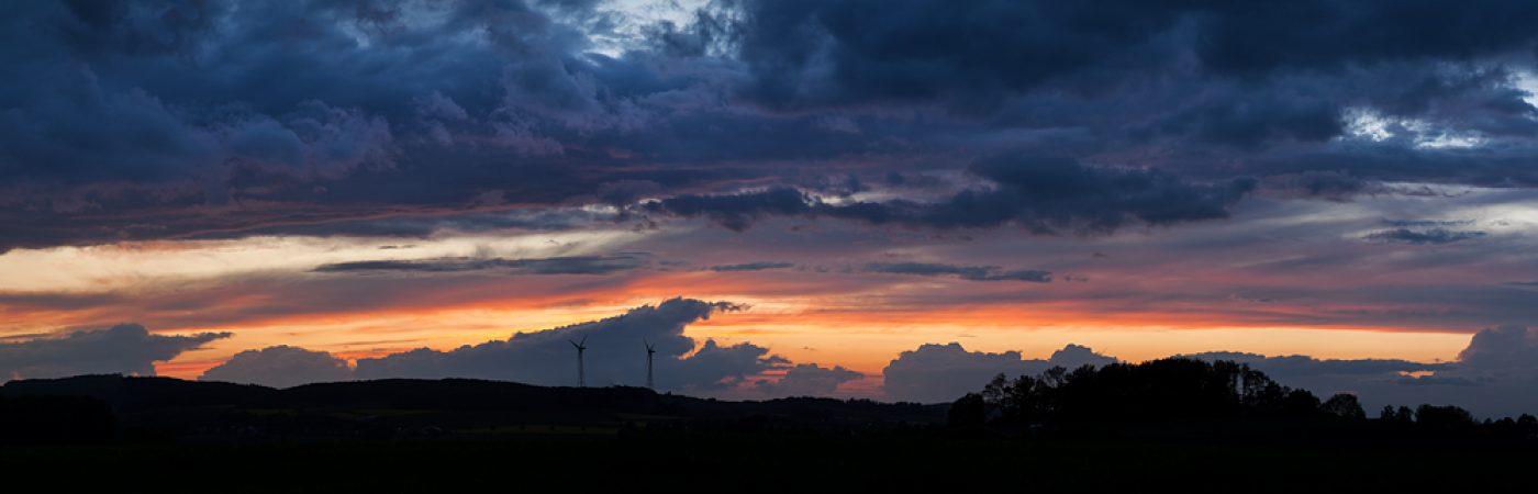 Melle Abendstimmung Panorama