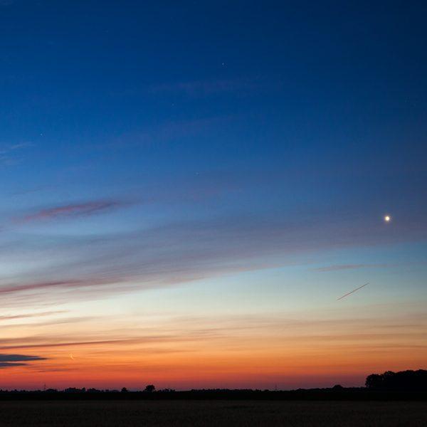 Mond & Venus am 18. Juli 2020